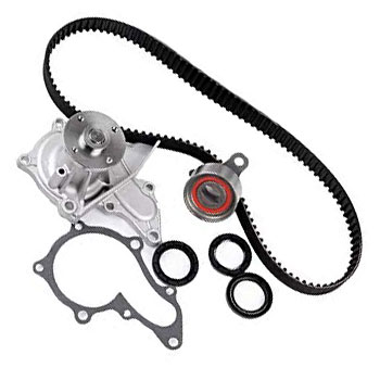 Picture of the parts needed to perform regular maintenance to your timing belt and water pump